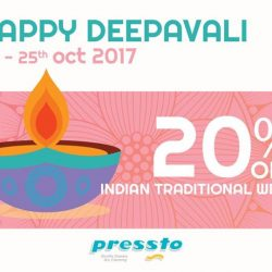 [Pressto Dry Cleaning] Get ready to shine and dazzle on this Deepavali day- the delicious meals and crowded schedule will not fret you