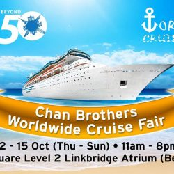 [Marina Square] Chan Brothers Worldwide Cruise Fair 12 - 15 Oct, Linkbridge Atrium (beside MUJI)Your next port of call awaits at Chan