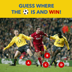 [Courts] GUESS where the ball ⚽ is in the image below and WIN a pair of passes to Meet & Greet Liverpool and