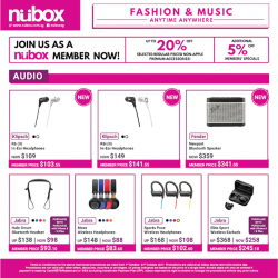 [Nübox] Enhance your music experience with this month premium audio offerings from Fender, Jabra & Klipsch available now in stores!