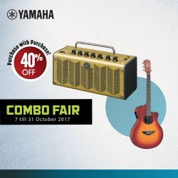 [YAMAHA MUSIC SQUARE] Enjoy 40% off in our purchase with purchase promotion this Combo Fair!