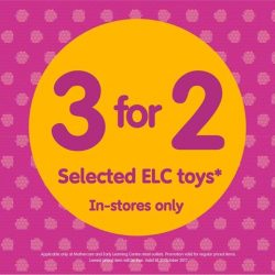 [Mothercare] It's toys galore at Mothercare & ELC this October!