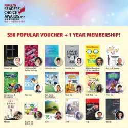 [POPULAR Bookstore] READERS' CHOICE AWARDS 2017] Don't miss the chance to support your favourite local authors in the Readers' Choice Awards