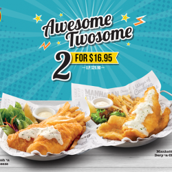 [The Manhattan FISH MARKET Singapore] Only a few days left for you to have an Awesome Twosome!