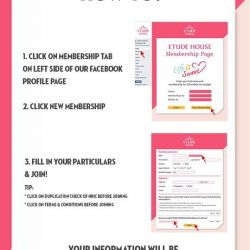 [Etude House Singapore] You can now become a part of ETUDE at your convenience!