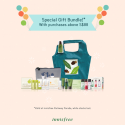 [Parkway Parade] In celebration of opening its 12th store right here at ParkwayParadeSG, Innisfree singapore is giving its first 100 guests a