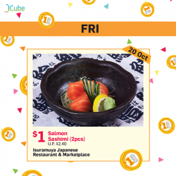 [ISURAMUYA JAPANESE RESTAURANT & MARKET PLACE] Good things must share - $1 Sashimi deals only on the 20th October!