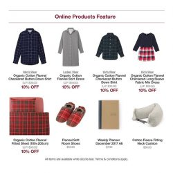 [MUJI Singapore] Take this last day to enjoy 10% OFF our Flannel series today!