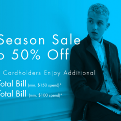 G2000: Mid Season Sale with Up to 50% OFF Selected Items + Additional $30 OFF for DBS/POSB Cardholders