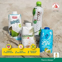 [7-Eleven Singapore] Pick up some refreshing coconut water at 7-Eleven to keep yourself hydrated and win rewards on the Healthy 365