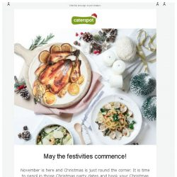 [CaterSpot] Introducing Our Christmas Menus!