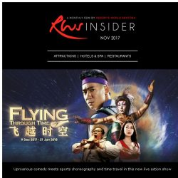 [Resorts World Sentosa] Indulge in a new live action show, go diving and feast this November