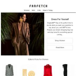 [Farfetch] Single's Day is calling   Make your statement