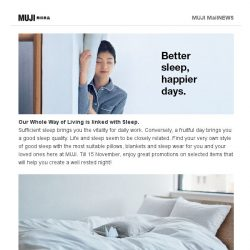 [Muji] MUJI Good Sleep – Better Sleep, Happier Days