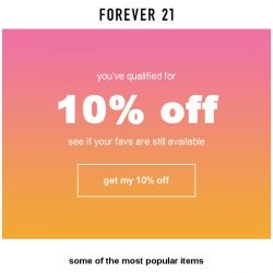 [FOREVER 21] We found you an EXCLUSIVE discount on your favorite items