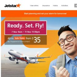 [Jetstar] ✈ Get ready to fly! Sale starts tomorrow.