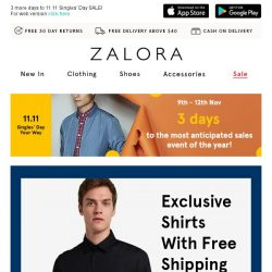 [Zalora] You'll dig this: Exclusive shirts with Free Shipping