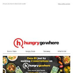 [HungryGoWhere] Here's some dining joints for your indulgence,