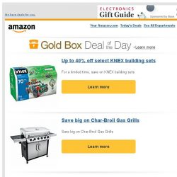 [Amazon] Up to 40% off select KNEX building sets