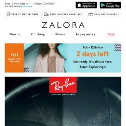 [Zalora] Ray-Ban: Keep your eyes on the prize