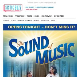 [SISTIC] The Sound of Music - Opens Tonight!