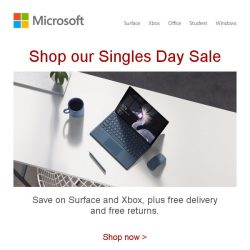 [Microsoft Store] Singles Day Sale starts now. Don't miss out >