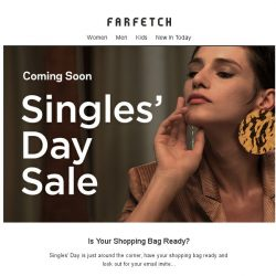[Farfetch] Singles' Day Sale is coming...Is your shopping bag ready?