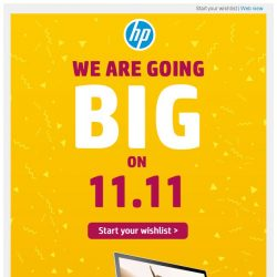 [HP Singapore]  We are going BIG on 11.11