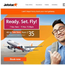 [Jetstar] Last 2 days! Don't miss sale fares to Osaka, Okinawa, Hong Kong and more.