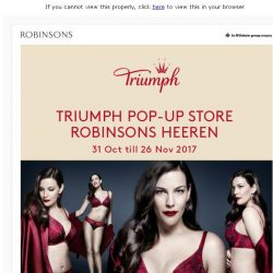 [Robinsons]  Triumph Pop-up store – At Robinsons The Heeren