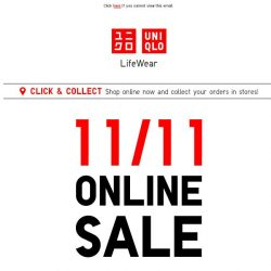 [UNIQLO Singapore] It's 11/11. You know what that means. 😏