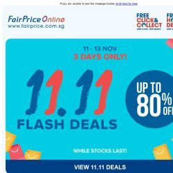 [Fairprice] 11.11 Deals: Up to 80% off!