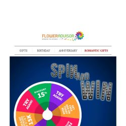 [Floweradvisor] [Spin and Win] Test Your Luck And Get a Free Bouquet of Flowers and More!