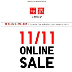 [UNIQLO Singapore] Have you shopped yet? 11/11 is almost over!
