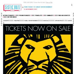[SISTIC] THE LION KING: Tickets Now On Sale!