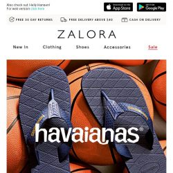 [Zalora] Just launched: Havaianas - add instant joy to your feet