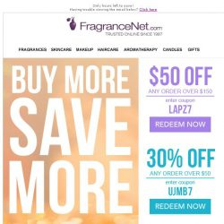 [FragranceNet] Last Call for Major Markdowns: Up to 80% off + $50 off