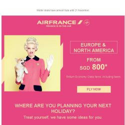 [AIRFRANCE] Ready, steady, go: Winter deals from SGD 800!
