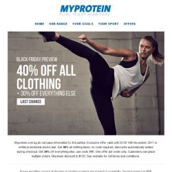 [MyProtein] [FINAL CHANCE] 👕 The November Style Takeover 👖