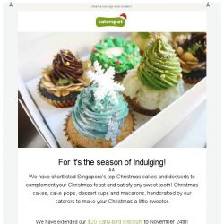 [CaterSpot] The Best Christmas Cakes and Desserts in Singapore!