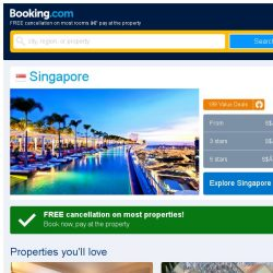 [Booking.com] Deals in Singapore from S$ 33