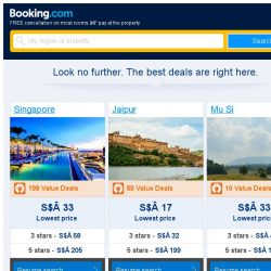 [Booking.com] Singapore, Jaipur, or Mu Si? Get great deals, wherever you want to go