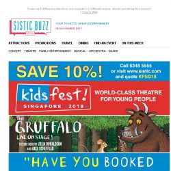 [SISTIC] Have you booked yet? 6 Amazing shows at KidsFest 2018!