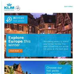 [KLM] Last chance to book our Winter Hotpicks from SGD 800!