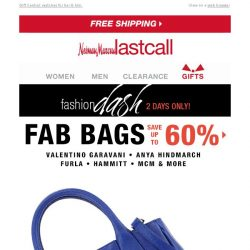 [Last Call] **** You're receiving Fab bags + Perfect Presents up to 70% off   MAJOR ANNOUNCEMENT!
