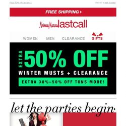 [Last Call] Holiday dresses + extra 30%–50% off
