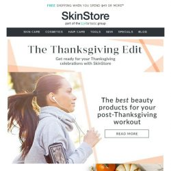 [SkinStore] Have your best Thanksgiving ever with our expert guides