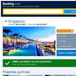 [Booking.com] Deals in Singapore from S$ 34