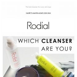 [RODIAL] Are you using the right cleanser?