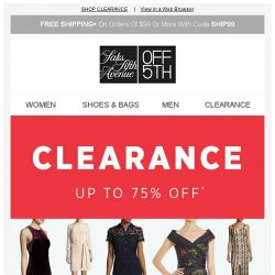 [Saks OFF 5th] Love Moschino on your mind? + Clear the clearance: up to 75% OFF!